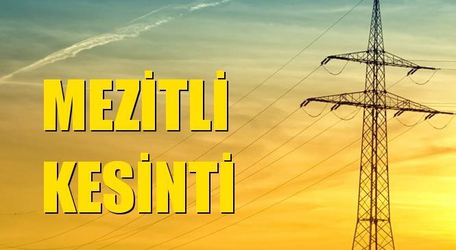 Mezitli Elektrik Kesintisi 25 Ekim Pazar