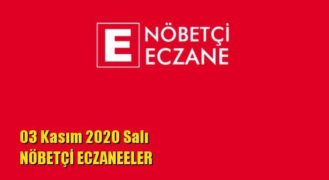 Mersin Nöbetçi Eczaneler 03 Kasım 2020 Salı