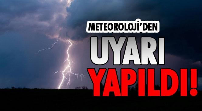 """Mersin'e Sarı Uyarı! Meteoroloji Genel Müdürlüğünden Doğu Akdeniz'e Sağanak Yağış Uyarısı """"Doğu Akdeniz'de Beklenen Kuvvetli Gök Gürültülü Sağanak Yağışlara Dikkat"""""""