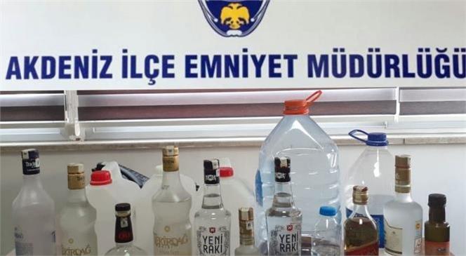 Sahte Alkol İle Mücadele Devam Ediyor! Mersin'de Sahte Alkol Üreten Yerler Operasyon