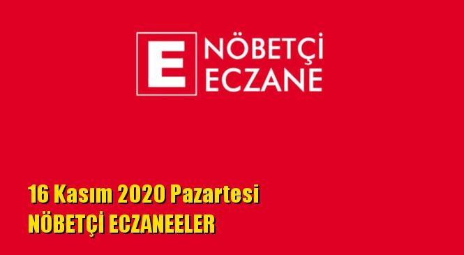 Mersin Nöbetçi Eczaneler 16 Kasım 2020 Pazartesi