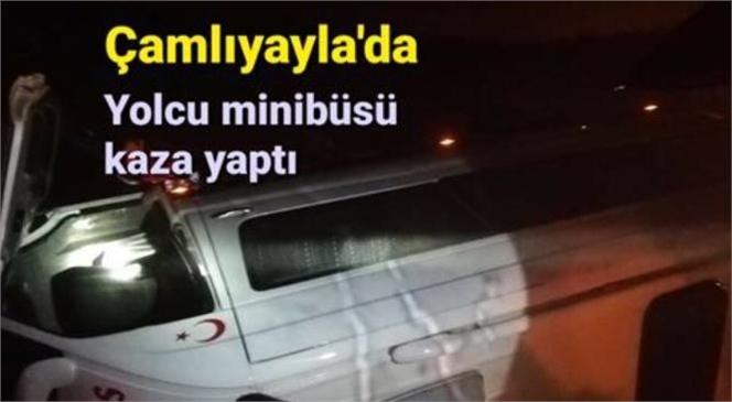 Mersin'in Çamlıyayla'daki Trafik Kazasında Takla Atan Minibüs İçinde Bulunan Üç Kişi Ölümden Döndü