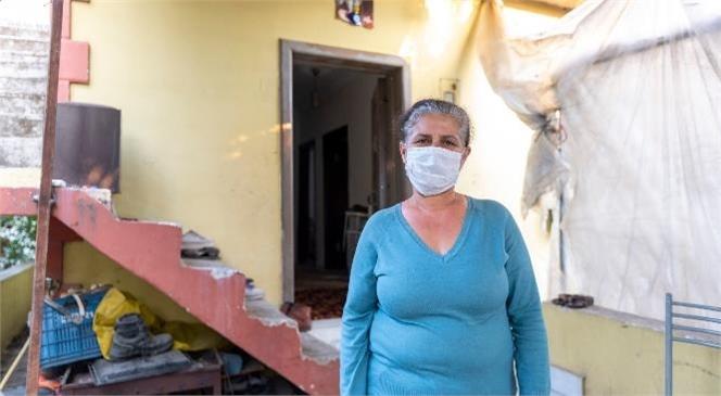 Ekipler Bir Evi Daha Yeniledi! Büyükşehir, Fatma Aldı'nın Hem Evini Hem Yüreğini Ferahlattı
