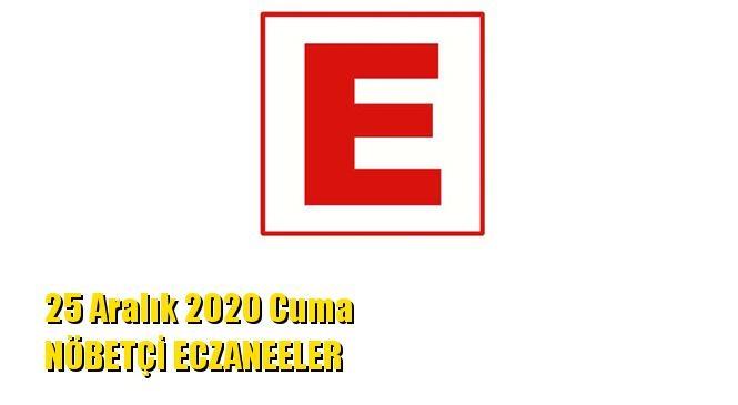 Mersin Nöbetçi Eczaneler 25 Aralık 2020 Cuma