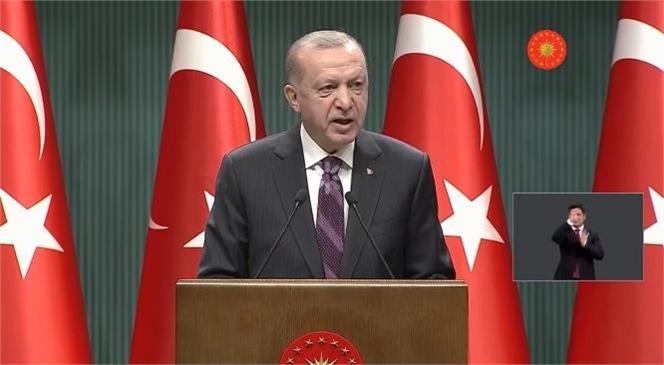 Cumhurbaşkanı Erdoğan, Cumhurbaşkanlığı Kabinesi Toplantısı Sonrası Açıklamalarda Bulunuyor