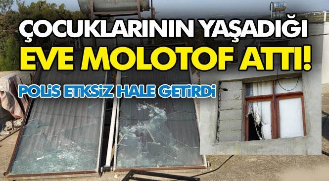 Mersin Tarsus'ta Baba, Çocuklarının Yaşadığı Eve Molotof Attı Sonra Dama Çıkıp Üzerine Döktüğü Benzini Ateşledi