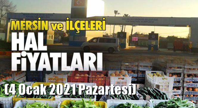 Mersin Hal Müdürlüğü Fiyat Listesi (4 Ocak 2021 Pazartesi)! Mersin Hal Yaş Sebze ve Meyve Hal Fiyatları