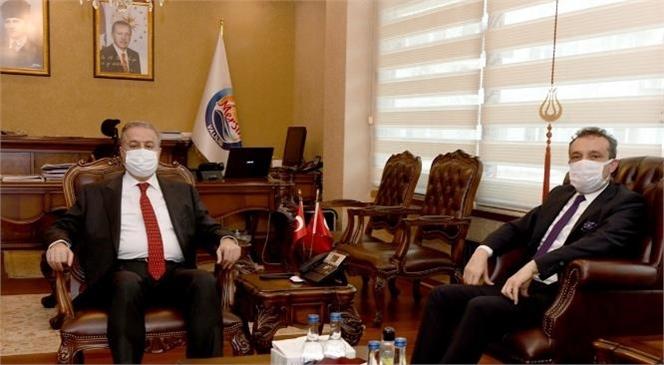 Mersin Cumhuriyet Başsavcısı Mustafa Ercan'dan Vali Su'ya Veda Ziyareti
