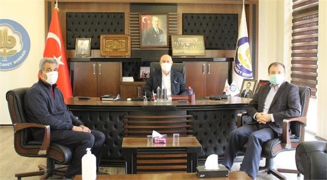 Müftü Ali Can, Başkan Murat Kaya'yı Ziyaret Etti