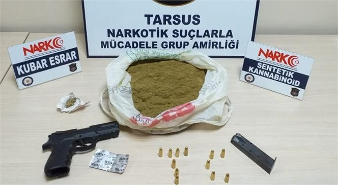 Mersin Tarsus'ta Polis Ekiplerince Bir İş Yerine Gece Saatlerinde Baskın Yapıldı