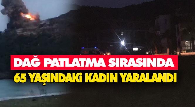 Akkuyu NGS'de Kontrollü Patlama! Gülnar Büyükeceli'deki Nükleer Santral Şantiyesinde Dağ Patlama Sırasındaki Patlatmada Yaşlı Kadın Başından Yaralandı