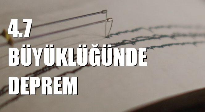 Merkez Üssü EGE DENIZI olan 4.7 Büyüklüğünde Deprem Meydana Geldi