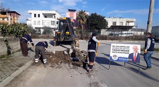 Akdeniz Belediyesi Fen İşleri Ekipleri, Her Mahalleye Hizmet Veriyor