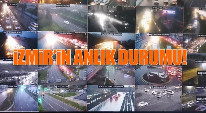 Bölgede Taşan Dereler Bulunuyor, Aşırı Yağış İzmir'i Vurdu! İzmir'de Deprem'den Sonra Şimdi de Sel Yaşanıyor! İzban Uyarısı
