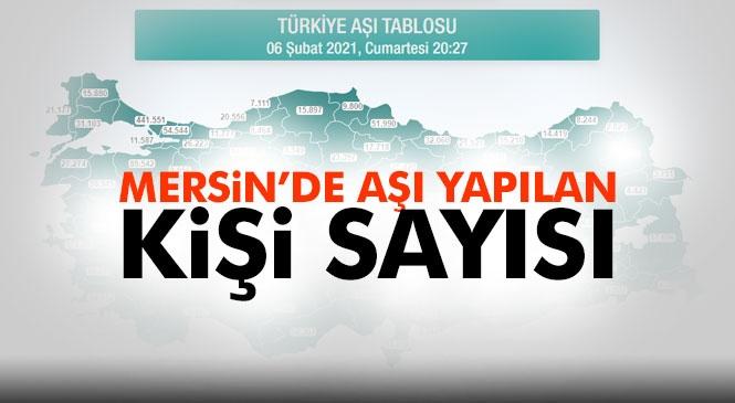 Mersin'de Aşı Yapılan Kişi Sayısı 62.363 Olurken, Türkiye Genelinde Toplam Sayısı 2.604.474 Rakamına Ulaştı
