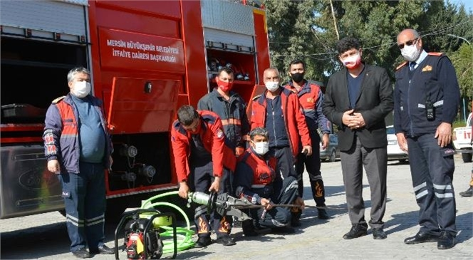 İtfaiye Hizmetlerinin Altyapısı Güçlendiriliyor! Mersin Büyükşehir İtfaiyesi Tarsus Grup Amirliğine Yeni Hizmet Aracı