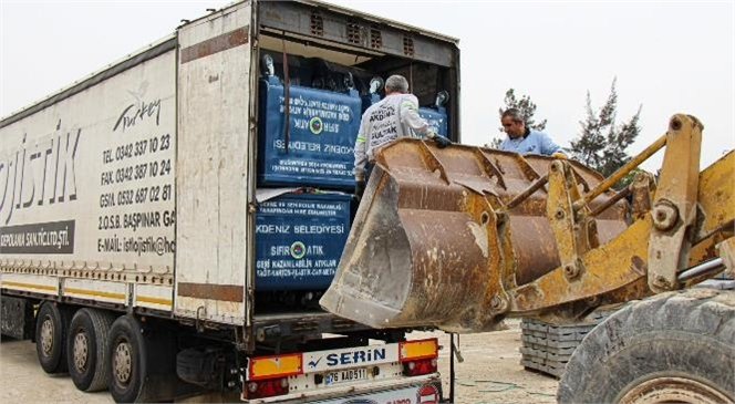 Akdeniz Belediyesi'ne 459 Adet Yeni Çöp Konteynırı Hibe Edildi! Projeyi Başarıyla Uygulaması Nedeniyle Sıfır Atık Belgesi'ni Almaya Hak Kazanmıştı