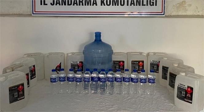 Mersin Anamur'da Sahte İçki Satan Markete Operasyon Yapıldı! Operasyonda Kaçak Rakı Ele Geçirildi
