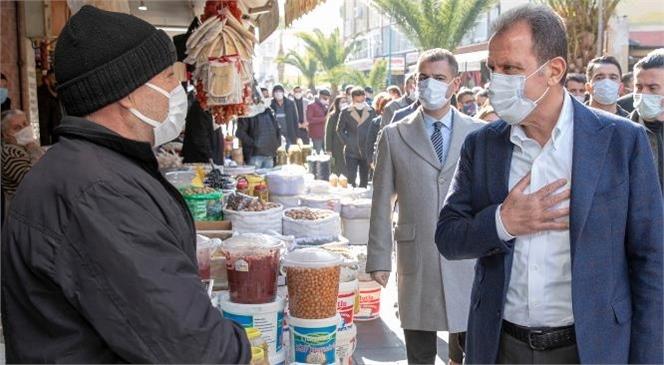 Seçer, Tarsus'taki Esnafı Ziyaret Etti, Saha İncelemesi Yaptı