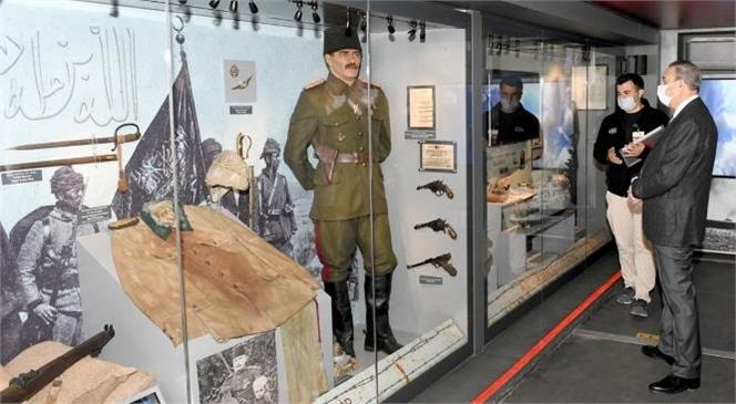 """Vali Su'dan """"Çanakkale Savaşları Mobil Müzesi"""" Ziyareti"""