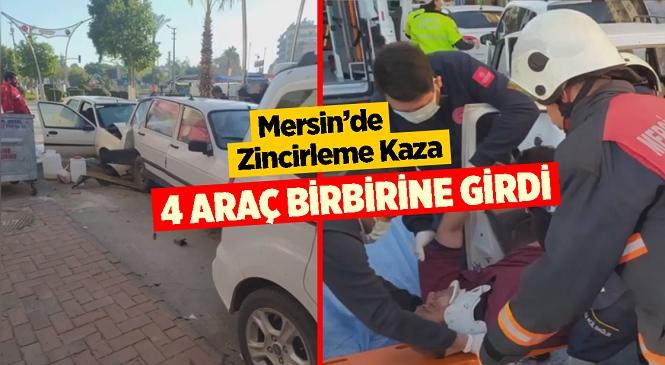 Mersin'in Tarsus İlçesi İsmetpaşa Mahallesinde Zincirleme Kaza, 5 Kişi Yaralandı