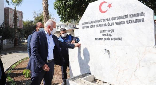 Akdeniz Belediyesi Şehidimizin Adını Taşıyan Kaideyi Yeniledi