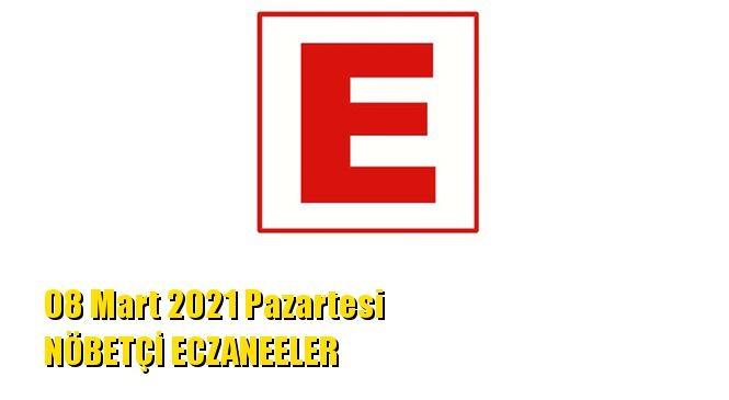 Mersin Nöbetçi Eczaneler 08 Mart 2021 Pazartesi