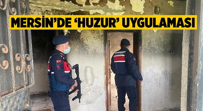 Mersin Jandarması Narkotik ve Huzurlu Sokaklar Uygulaması Gerçekleştirdi