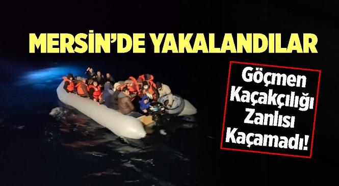 Mersin'de 12 Düzensiz Göçmen Kurtarıldı, 1 Göçmen Kaçakçısı Yakalandı