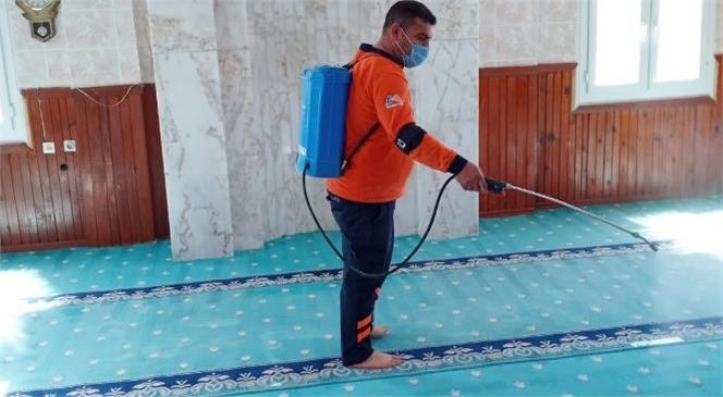 Büyükşehir, Cami ve İbadethanelerde Dezenfekte Çalışmalarına Devam Ediyor