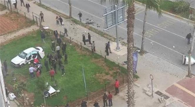 Mersin'de Meydana Gelen Kazada Bahçeye Uçan Araçtaki Yaralıları Vatandaşlar Kurtardı