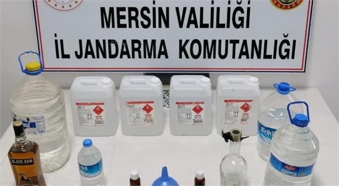 Mersin'de 46 Litre Kaçak İçki Ele Geçirildi