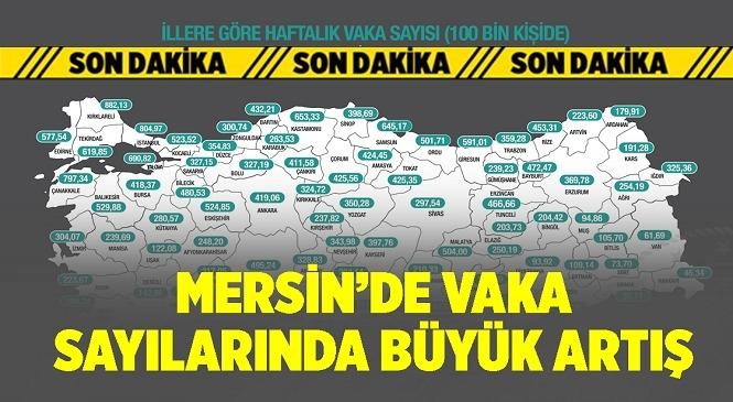 Mersin'de Haftalık Vaka Sayılarında Yükseliş Devam Ediyor