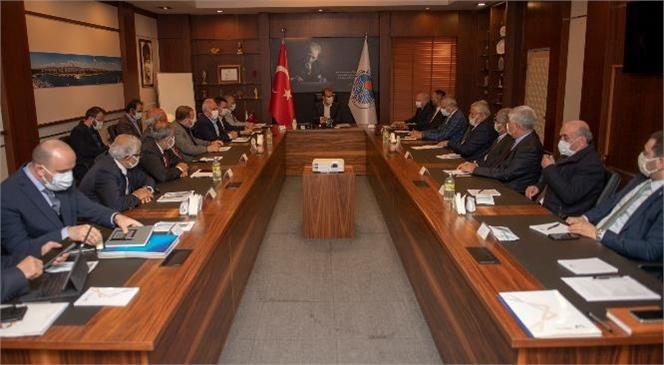 Mersin Büyükşehir Belediyesi İle Mersin Esnaf ve Sanatkârlar Odaları Birliği (ESOB) Arasında İmzalanan Protokol Çerçevesinde Kurulan MESDEM'in İlk Toplantısı Gerçekleştirildi.
