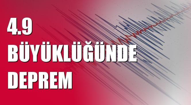 Merkez Üssü ONIKI ADALAR (Akdeniz) olan 4.9 Büyüklüğünde Deprem Meydana Geldi