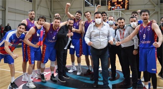 Mersin Büyükşehir Belediyesi Gençlik ve Spor Kulübü Erkek Basketbol Takımı, Türkiye Basketbol 2. Ligi Final Grubu Müsabakasında İlk Rakibi Etimesgut'u 60-72'lik Skorla Yendi