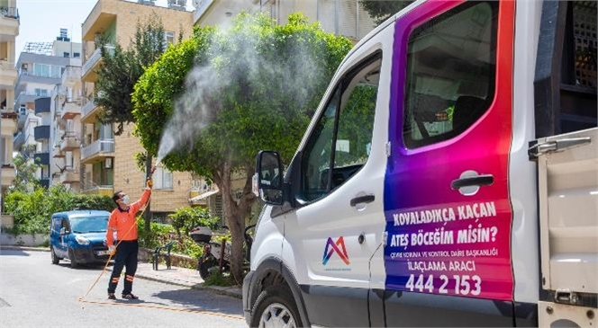 Mersin Büyükşehir Belediyesi Çevre Koruma ve Kontrol Dairesi, Kent Genelinde Yürüttüğü İlaçlama Çalışmalarına Hava Sıcaklığının Artmasıyla Birlikte Hız Verdi