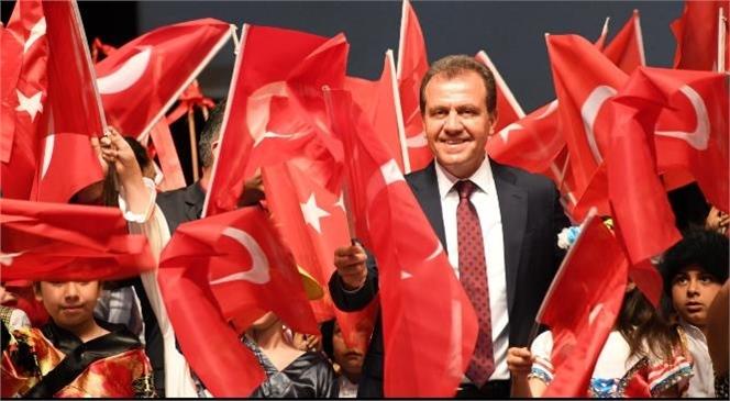 """Seçer: """"Egemenliğin, Cumhuriyet'in ve Mersin'in Kayıtsız Şartsız Sahibi Çocuklarımız"""""""