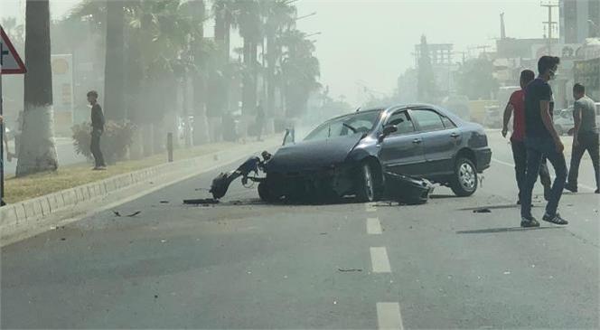 Mersin'in Tarsus İlçesi D-400 Karayolunda Trafik Kazası Meydana Geldi
