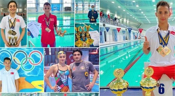 Mersinli Milli Yüzücüler Nisa Gül ve Serdar ve Atakan Malgil Ukrayna'da Tarih Yazdı