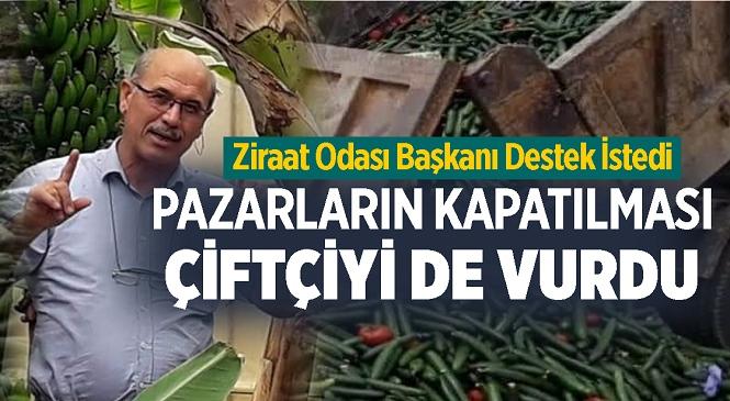 Anamur-bozyazı Ziraat Odası Başkanı Ahmet Şeref Gümüş Duyurdu, Mersinli Çiftçiler Tam Kapanmadan Dolayı Mağdur Oldu