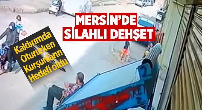Mersin'in Toroslar İlçesinde Kaldırımda Oturan Vatandaş Motosiklet Üzerindeki Kişinin Silahlı Saldırısına Uğradı