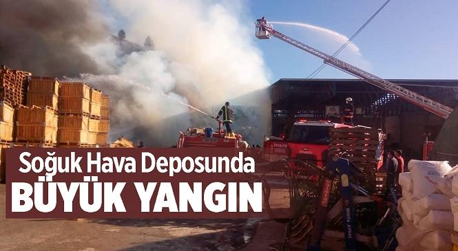 Mersin'in Mut İlçesinde Soğuk Hava Deposunda Çıkan Yangın İtfaiye Ekiplerince Söndürüldü