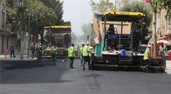 Büyükşehir'den Kentin En İşlek Caddelerinde Büyük Ölçekli Yenileme Çalışması