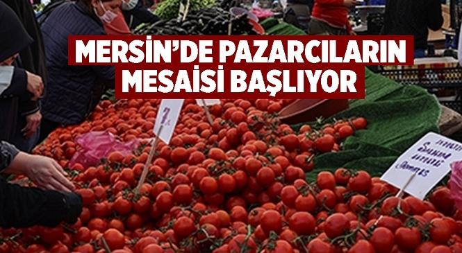 Mersin'de Semt Pazarları Normal Mesaisine 17 Mayıs Pazartesi Günü Başlıyor