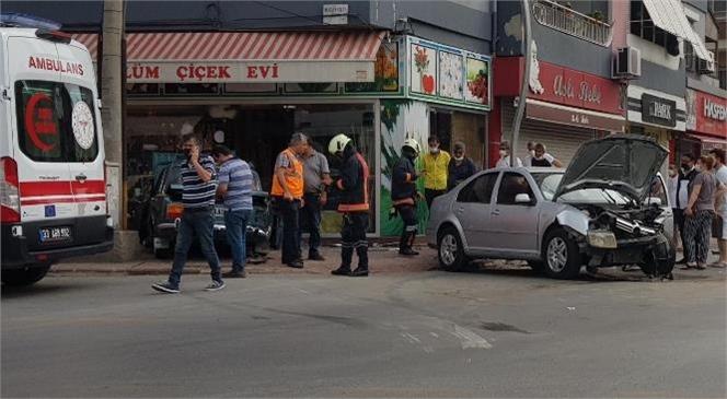 Mersin Tarsus'ta Meydana Gelen Trafik Kazasında Sürücü Barış Ergögüs Yaralandı