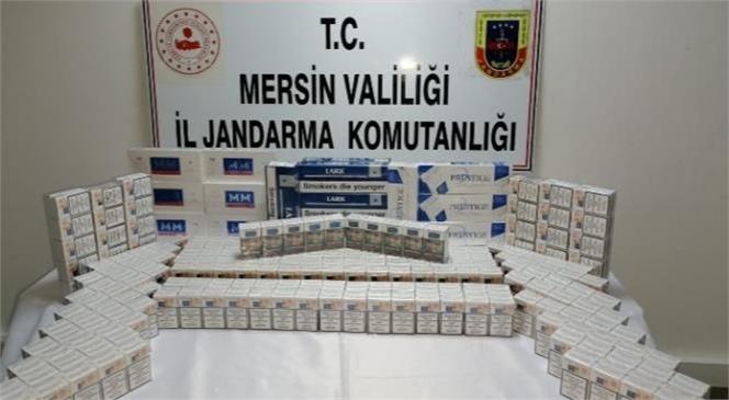 Mersin İl Jandarma Komutanlığı Ekiplerinden Kaçak Sigara Operasyonu
