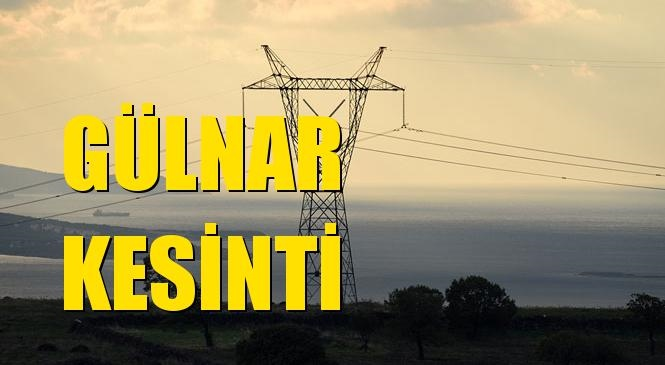 Gülnar Elektrik Kesintisi 31 Mayıs Pazartesi