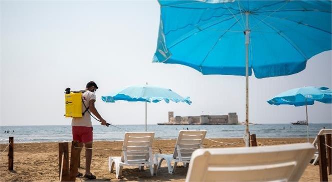 Büyükşehir Akdeniz'in İncisi Mersin'de Plajları Yaza Hazırlıyor