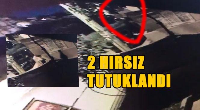 """Mersin'de 14 Ayrı Evde Yaşanan """"Askıcılık"""" Yöntemi İle Hırsızlık Olayı Aydınlatıldı: 2 Tutuklama"""